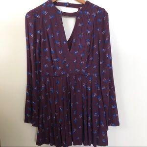 Free People purple floral flowy dress size 2